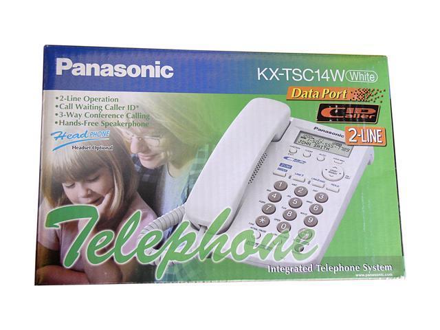 Panasonic KX-TSC14W 2-Line Corded Speakerphone with Caller ID