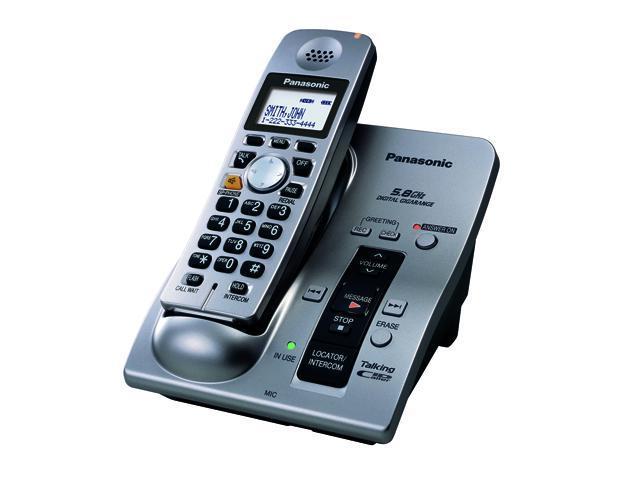 panasonic 5 8 ghz cordless phone answering machine