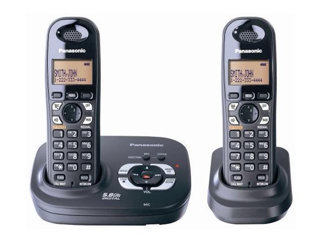 panasonic phone 5 handsets answering machine