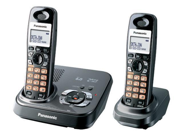 Panasonic KX-TG9332T 1.9 GHz Digital DECT 6.0 2X Handsets DECT 6.0 Expandable Digital Cordless Phone 2 Handsets