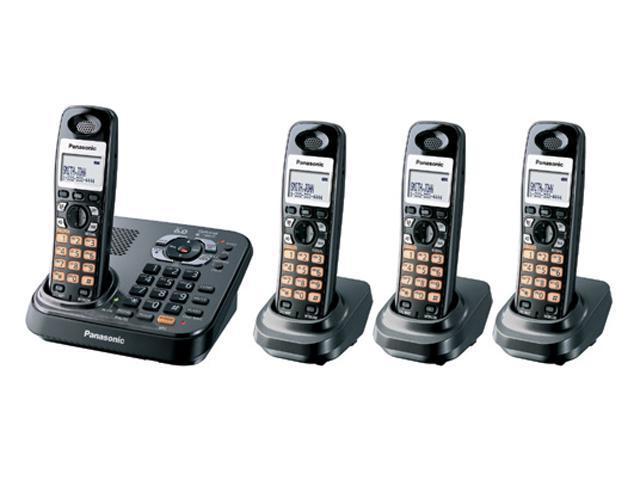 Panasonic KX-TG9344T 1.9 GHz Digital DECT 6.0 4X Handsets Expandable Phone System