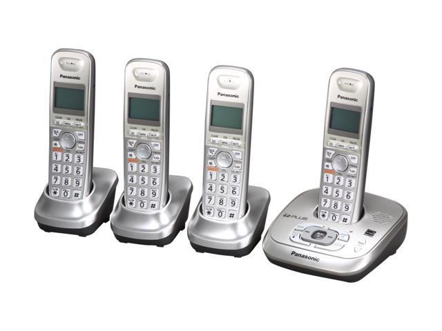 Panasonic KX-TG4024N 1.9 GHz Digital DECT 6.0 4X Handsets Cordless Phone Integrated Answering Machine