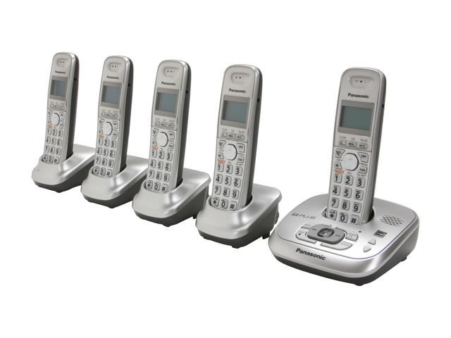 Panasonic KX-TG4025N 1.9 GHz Digital DECT 6.0 5X Handsets Cordless Phone