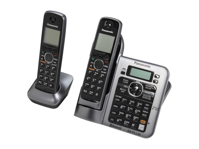 Panasonic KX-TG7642M 1.9 GHz Digital DECT 6.0 Link to Cell via Bluetooth Cordless Phone with Integrated Answering Machine and 2 Handsets