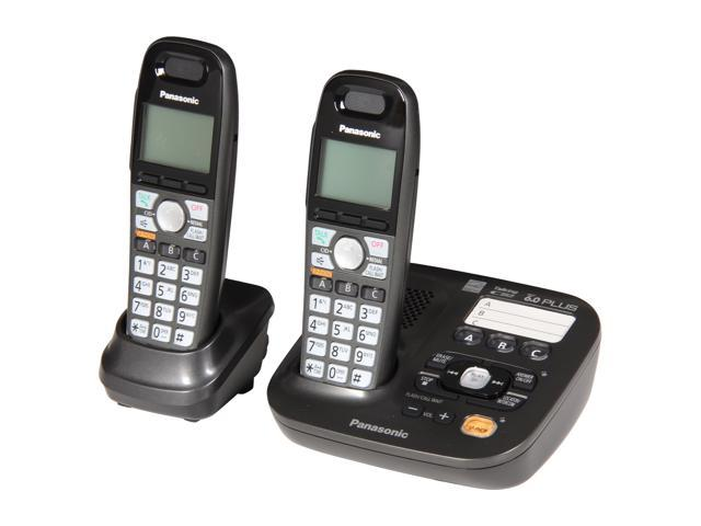 Panasonic kx tg6592t 1 9 ghz digital dect 6 0 2x handsets cordless phones integrated answering - Designer cordless home phones ...