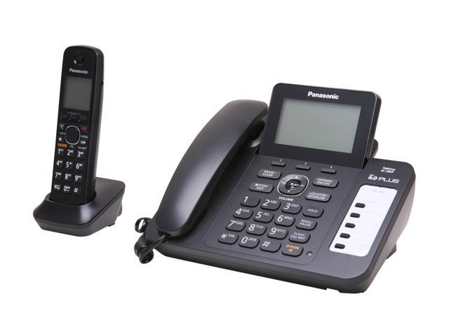 Panasonic KX-TG6671B 1.9 GHz Digital DECT 6.0 1X Handsets Cordless Phones Integrated Answering Machine