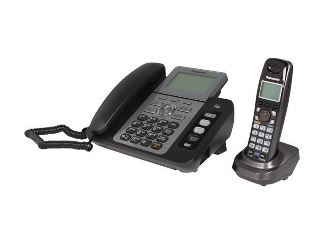 Panasonic KX-TG9471B 1.9 GHz Digital DECT 6.0 1X Handsets Cordless Phones Integrated Answering Machine