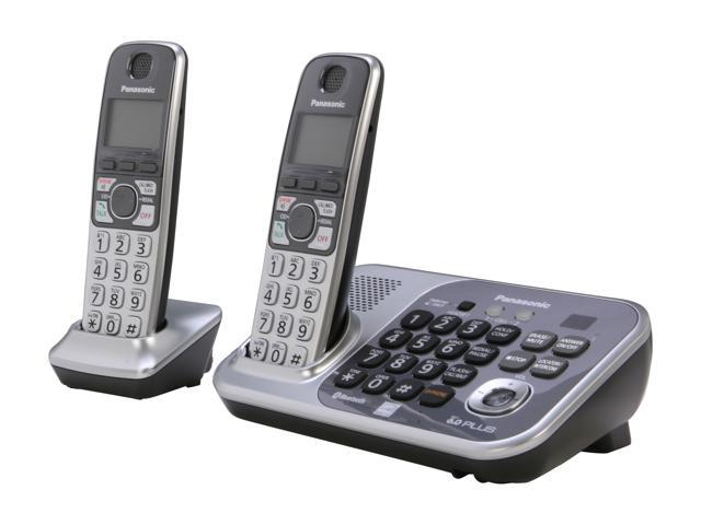 Panasonic KX-TG7742S 1.9 GHz Digital DECT 6.0 Link to Cell via Bluetooth Cordless Phone with Integrated Answering Machine and 2 Handsets