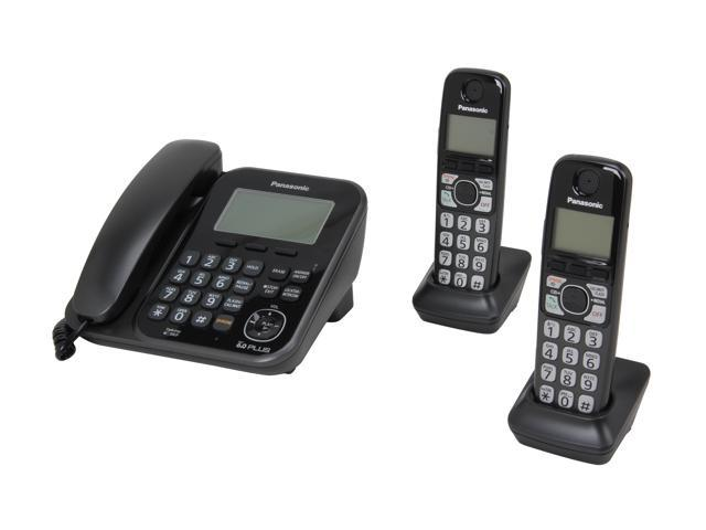 Panasonic KX-TG4772B 1.9 GHz Digital DECT 6.0 2X Handsets Cordless Phones Integrated Answering Machine