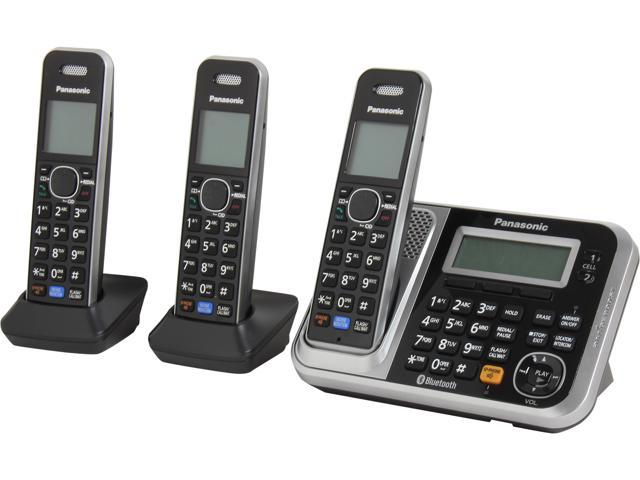 Panasonic KX-TG7873S 1.9 GHz DECT 6.0 3X Handsets Link2Cell Bluetooth Cellular Convergence Solution with 3 Handsets Integrated Answering Machine