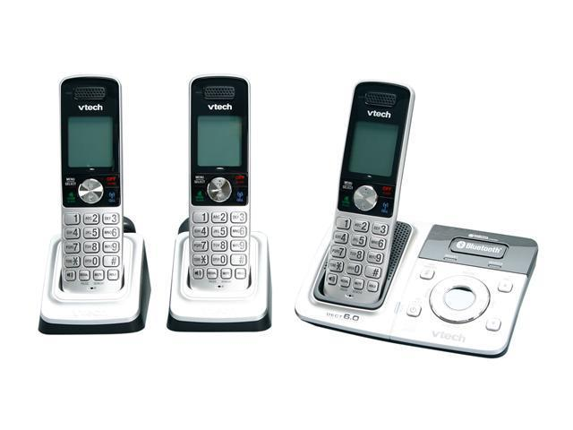 Vtech DS6321-3 1.9 GHz Digital DECT 6.0 Connect to Cell 3 Handsets Cordless Phones with Answering Machine