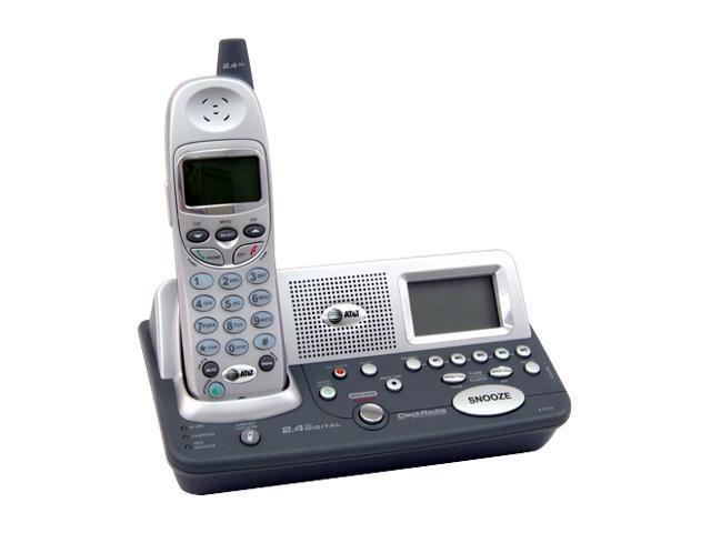 at t 81 5480 00 cordless phone with am fm radio alarm. Black Bedroom Furniture Sets. Home Design Ideas