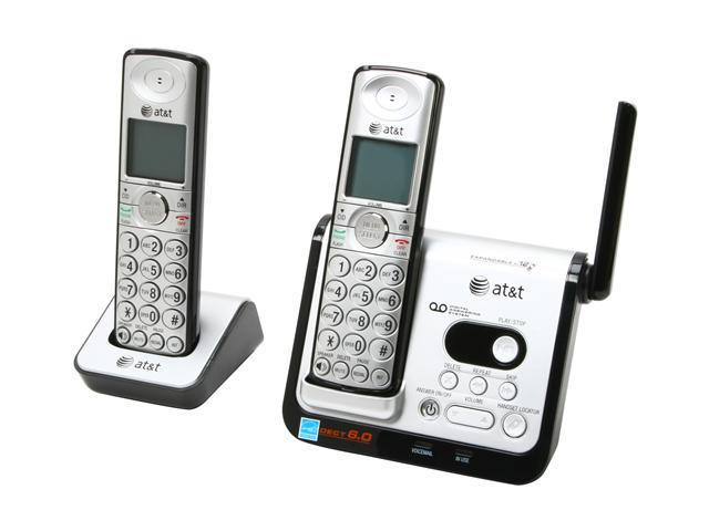 AT&T CL82209 1.9 GHz Digital DECT 6.0 2X Handsets Cordless Phone Integrated Answering Machine