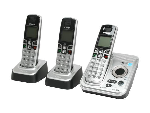 Vtech CS6229-3 1.9 GHz DECT 6.0 3X Handsets Cordless Phones Integrated Answering Machine