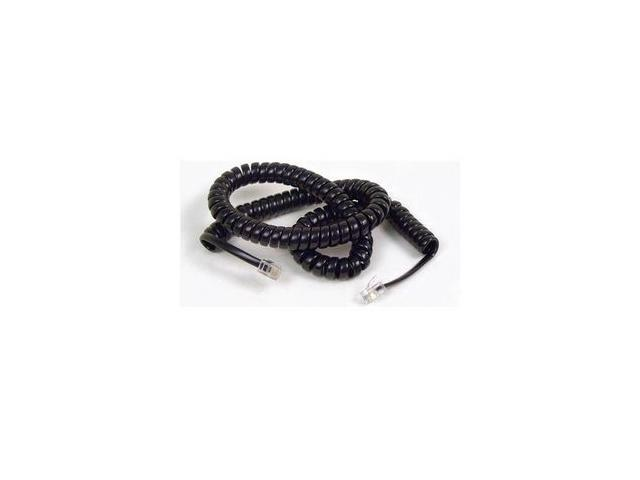 AT&T F8V101-12-BK Coiled Telephone Handset Cord, 12 feet (3.7m)