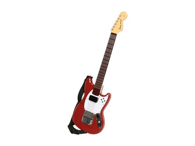 MadCatz Wii Rock Band 3 Wireless Fender Mustang Pro-Guitar Controller Red