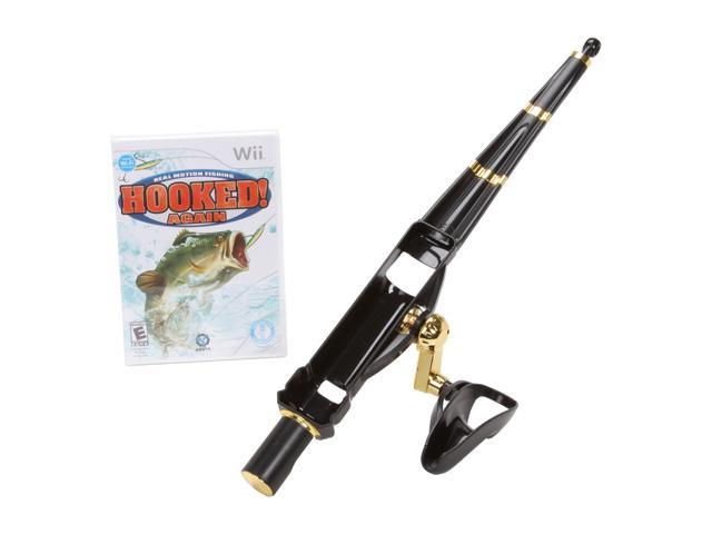Hooked again w fishing rod bundle wii game for Wii fishing rod
