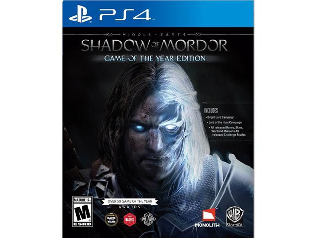 Middle-earth: Shadow of Mordor Game of the Year PlayStation 4