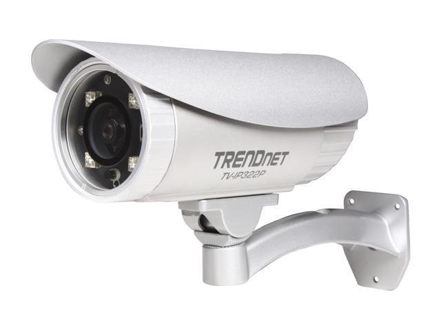 TRENDnet TV-IP322P 1280 x 1024 MAX Resolution SecurView Pro PoE Day/Night w/BNC Port Outdoor Outdoor IP Camera