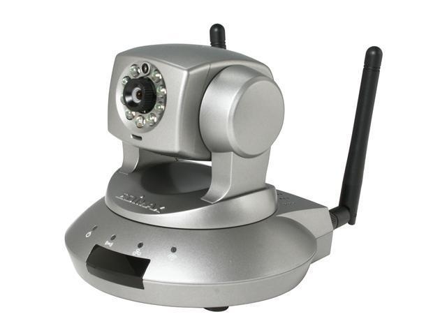 EDIMAX IC-7010PTn Wireless 802.11n Motorized Pan/Tilt Internet IP Camera With H.264, Night Vision and Smart iCatch Feature to View Real Time Screen From Your iPhone / Smart Phone