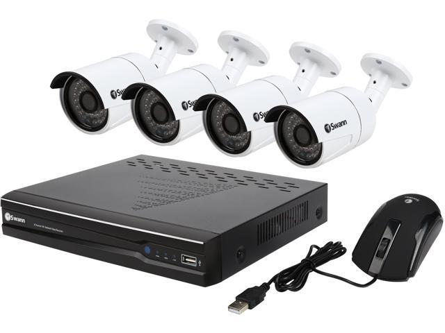 Swann SWNVK-873004-US 8 Channel H.264 Level 8 Channel 3MP Network Video Recorder & 4 x NHD-815 3MP Cameras