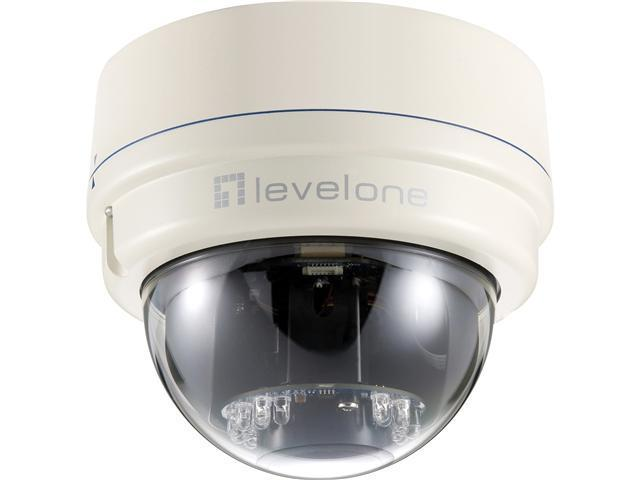 LevelOne H.264 2-Mega Pixel (CMOS) FCS-3081 10/100 Mbps PoE IP Dome Network Camera