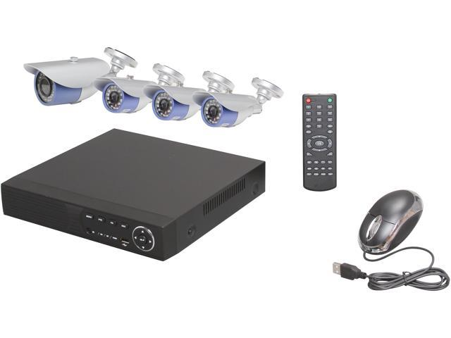 Aposonic A-BRHB4-V1 8 CH H.264 Level Surveillance DVR Kit with 1 x 480 TVL; 2.8-12 mm Varifocal + 3 x 480 TVL; 1/3