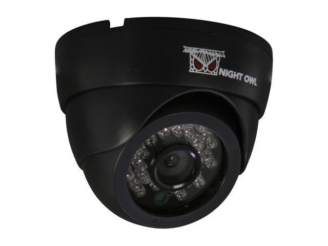 Night Owl CAM-DM420-245A 420 TV Lines MAX Resolution BNC Indoor Dome Black Camera with Audio