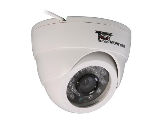 Night Owl CAM-DM420-245A-W 420 TV Lines MAX Resolution BNC Indoor Dome White Camera with Audio