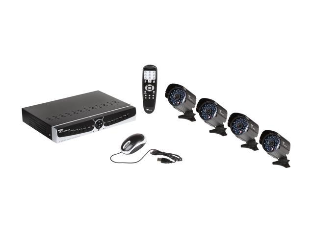 Night Owl B-PODVR5-4600 8 Channel H.264 DVR, 4 x 600 TVL, 100 ft Night Vision Cameras, 500GB HDD, Surveillance DVR Kit