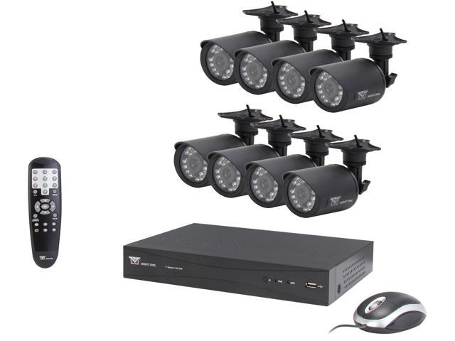 Night Owl P-85-8624N 8 Channel D1 DVR with HDMI, 500 GB HDD and 8 x 600 TVL Cameras (50ft NV)