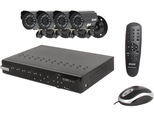 KGuard CA104-H02 4 Channel Surveillance DVR Kit