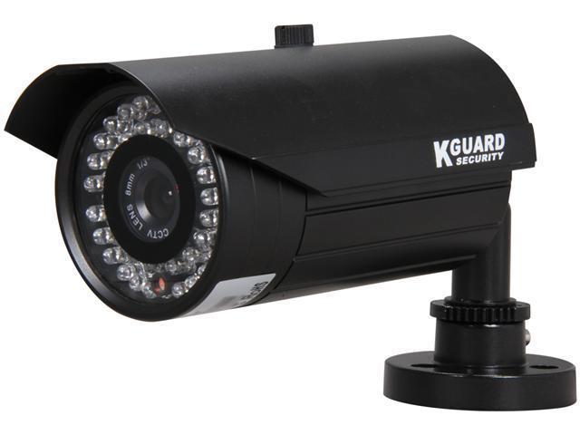 Kguard Anti-Cut Vandal Proof Camera, 540 TVL, 42 IR LED, 131ft IR Distance, 8mm Lens