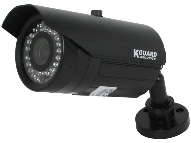 Kguard Anti-Cut Vandal Proof Camera, 540 TVL, 42 IR LED, 131ft IR Distance, 4-9mm Vari-Focal Lens