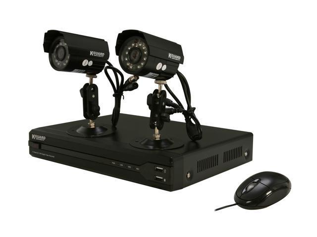KGuard OT401-2CW134M 4 Channel Surveillance DVR Kit