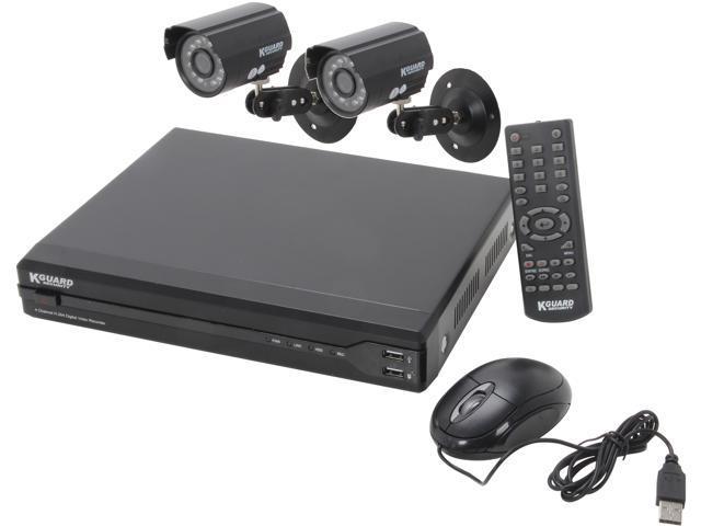 KGuard OT401-2CW134M-500G 4 Channel H.264 Level Surveillance DVR Kit