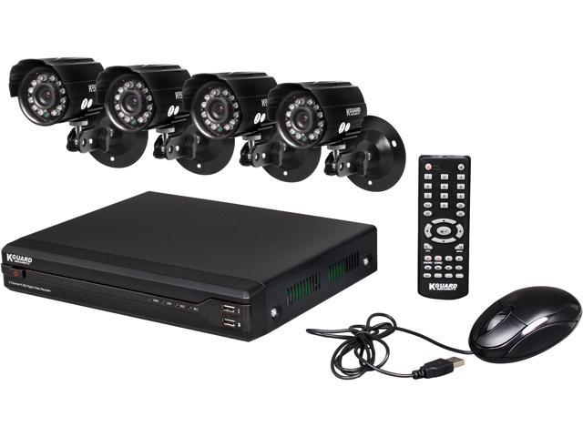 KGuard OT801-4CW134M-500G 8 Channel Surveillance DVR Kit