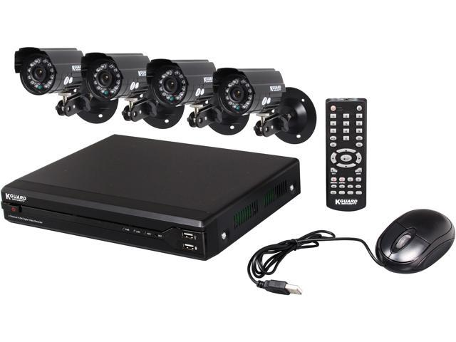 KGuard OT401-H02-500G 4 Channel H.264 Level Surveillance DVR Kit