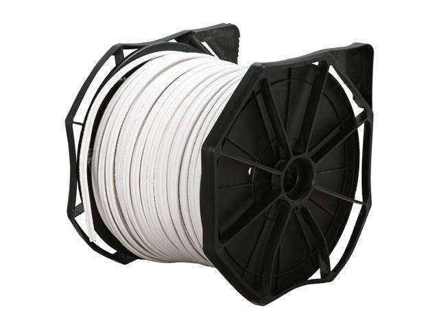 LTS LTS05PCW3 RG59 95% Braided + DC Power UL Certified Coaxial Cable Box Set – 500 ft. White