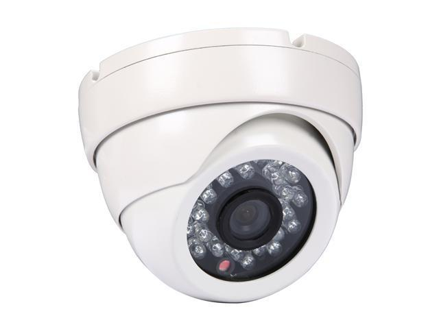 LTS LTCD248FMW2 600 TV Lines MAX Resolution White Metal Dome Camera with 24 IR LED
