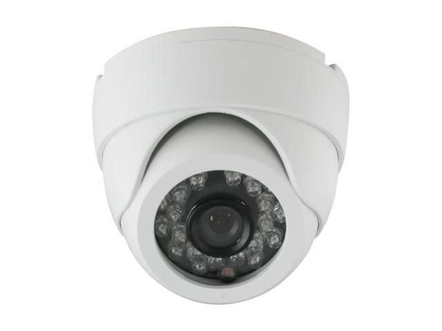 LTS LTCD248FPW2 White Plastic Dome Camera with 24 IR LED