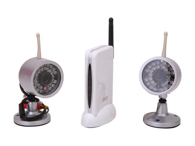 LTS LTCMW802I2 Deskstop Stand FM Receiver with 2 Wireless 2.4GHz Night Vision Cameras (30 IR)