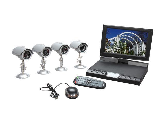 LTS 4 Camera+4 Channel 500GB DVR w/10