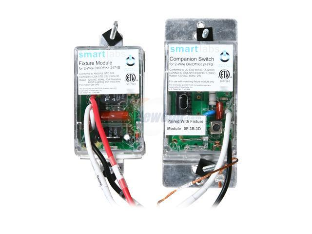 SmartLabs 2474S 2-Wire INSTEON Switch Kit (Non-Dimming ...
