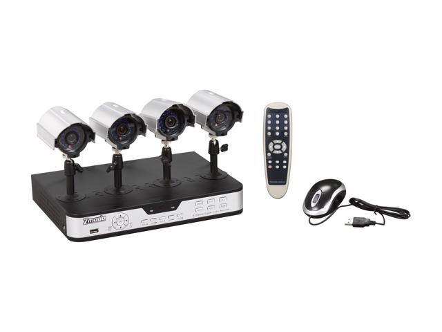 Zmodo PKD-DK0863-500GB 4 Camera + 8 CH DVR with 500GB / Remote Web / Mobile Phone Access