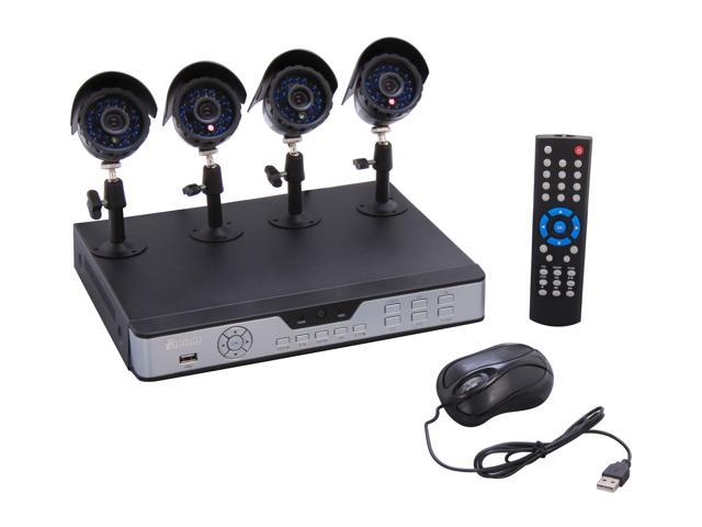 Zmodo KDA4-NARQZ4ZN 4Ch DVR & 4 Sony CCD Cam Kit