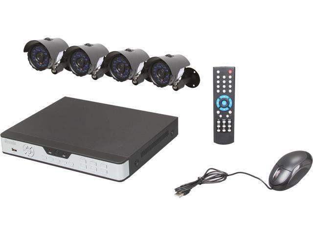 Zmodo KDA4-NARQZ4ZN-5G 4Ch DVR with 500GB HDD & 4 Sony CCD Cam Kit