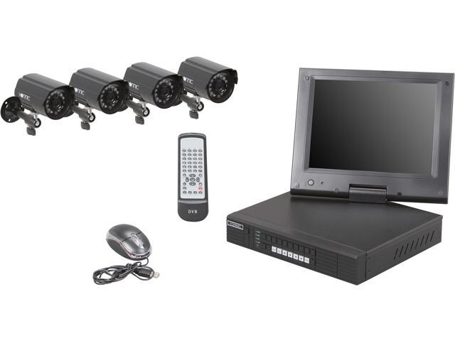 Vonnic DK7784B5 4 Channel H.264 Level DVR Kit with 10.4