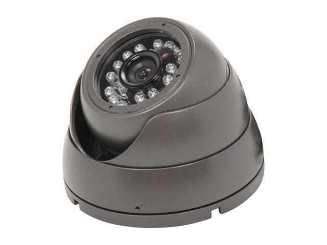 Vonnic VCD503B 480 TV Lines MAX Resolution Outdoor Night Vision Dome Camera - Black