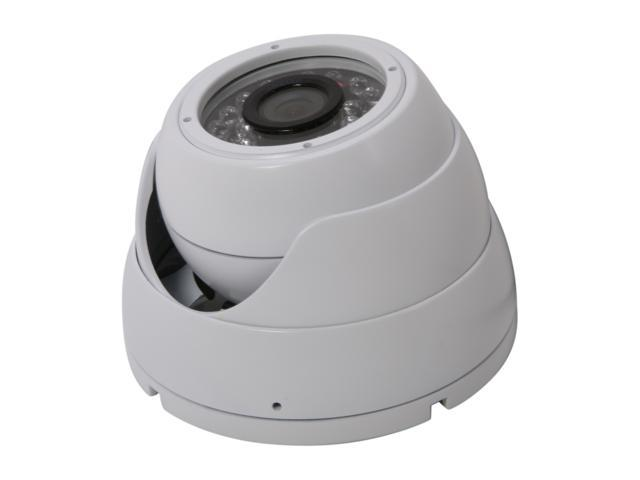 Vonnic VCD504W 480 TV Lines MAX Resolution Outdoor Night Vision Dome Camera - White
